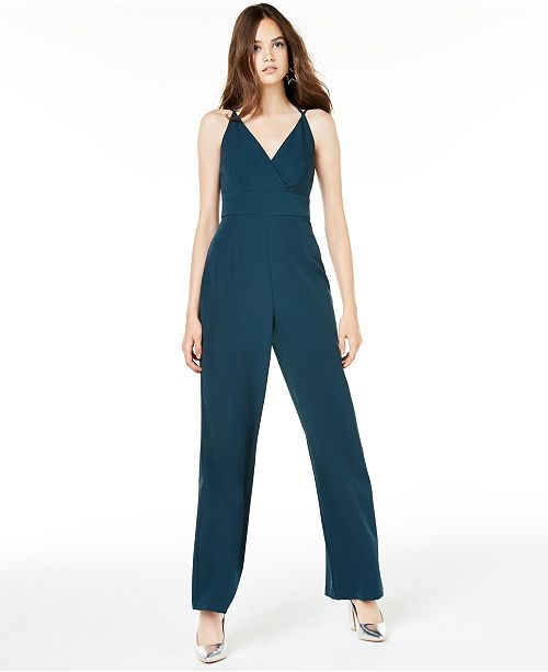 Teeze Me Juniors' Tie-Back Jumpsuit