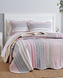 Martha Stewart Collection Yarn Dye Bedspread and Sham Collection, Created for Macy's