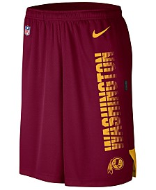 Nike Men's Washington Redskins Player Knit Breathe Shorts