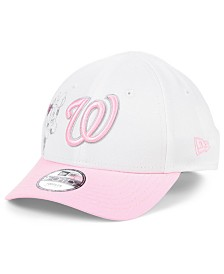 New Era Toddlers & Little Girls Washington Nationals Minnie Heart 9FORTY Adjustable Cap