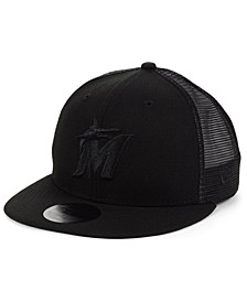 Miami Marlins Blackout Meshback 59FIFTY-FITTED Cap
