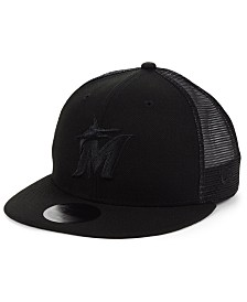 New Era Miami Marlins Blackout Meshback 59FIFTY-FITTED Cap
