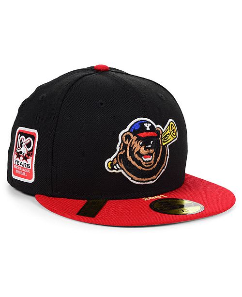 045b4116 Yakima Bears MiLB 100TH Anniversary Patch 59FIFTY-FITTED Cap
