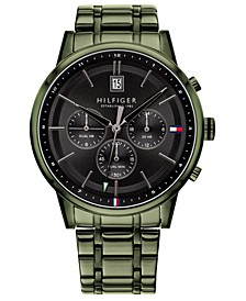 Men's Green Stainless Steel Bracelet Watch 43mm, Created for Macy's