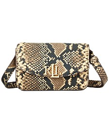 Lauren Ralph Lauren Madison Snake Embossed Leather Convertible Belt Bag