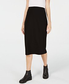 Eileen Fisher Slim Midi Skirt, Regular & Petite