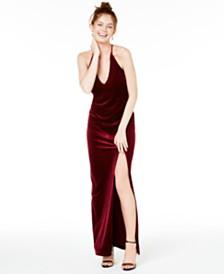 Teeze Me Juniors' Velvet Gown