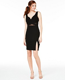 Juniors' Illusion-Waist Bodycon Dress