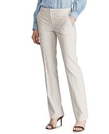 Lauren Ralph Lauren Petite Pinstripe Straight-Leg Pants