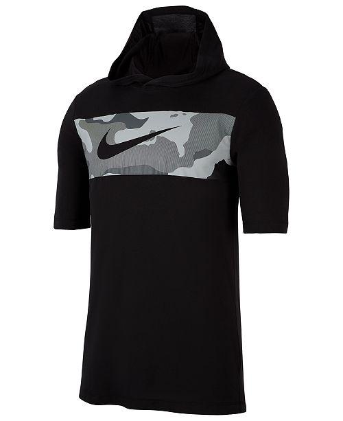 pretty nice 196c0 37589 ... Nike Men s Dri-FIT Colorblocked Camo Hoodie ...