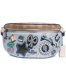 COACH Souvenir Pins Leather Belt Bag