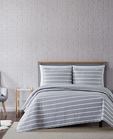 Truly Soft Maddow Stripe Full/Queen Quilt Set