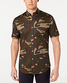 Club Room Men's Camo Stretch Shirt, Created for Macy's
