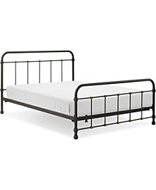 Renaud Metal Bed - Queen, Quick Ship
