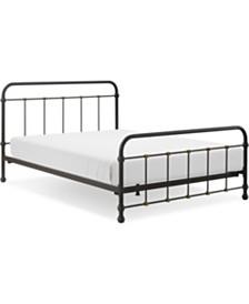 Renaud Metal Bed - Queen, Quick Ship