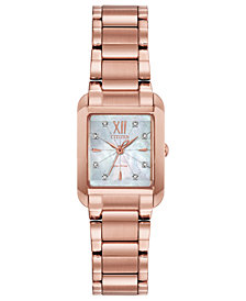 Citizen Eco-Drive Women's Bianca Diamond-Accent Rose Gold-Tone Stainless Steel Bracelet Watch 22mm