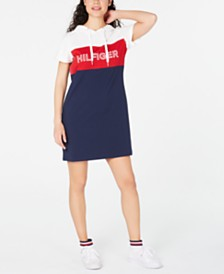 Tommy Hilfiger Sport  Hooded Logo T-Shirt Dress
