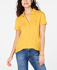 Solid 5-Button Polo Shirt