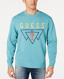 GUESS Men's Logo Triangles Sweatshirt