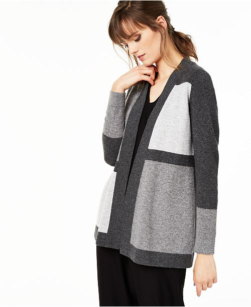 Charter Club Colorblocked Pure Cashmere Cardigan, Regular & Petite Sizes, Created for Macy's