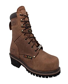 "Men's 9"" Steel Toe Super Logger Boot"