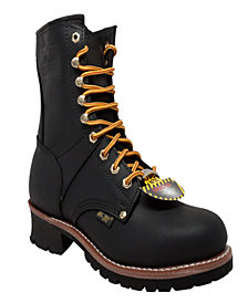 "AdTec Men's 9"" Steel Toe Logger Boot"