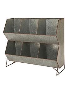 Farmhouse Galvanized Storage Shelf
