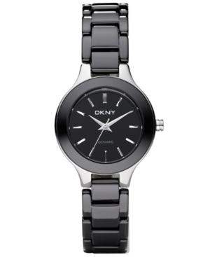 Dkny Watch, Women's Black Ceramic Bracelet NY4887