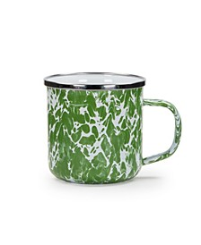 Green Swirl Enamelware Collection Mug, 12oz