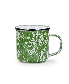 Golden Rabbit Green Swirl Enamelware Collection Mug, 12oz