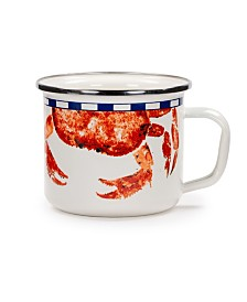 Golden Rabbit Crab House Enamelware Collection Grande Mug, 24oz