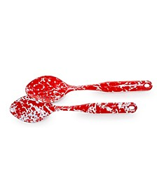 Red Swirl Enamelware Collection 2 Piece Spoon Set