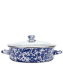 Cobalt Swirl Enamelware Collection 5 Quart Saute Pan