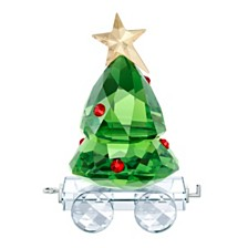 Swarovski Christmas Tree Wagon Figurine