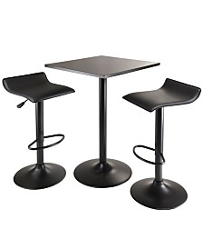 Winsome Wood Obsidian 3-Piece Table Set