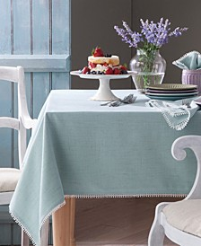 French Perle Ice Blue Table Linen Collection