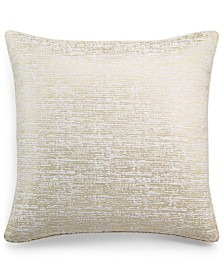 "Home Design Studio Chenille Jacq 20"" x 20"" Decorative Pillow, Created for Macy's"