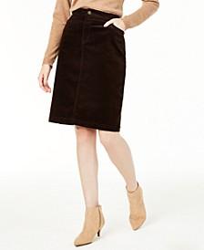 Corduroy Tummy-Control Skirt, Created for Macy's