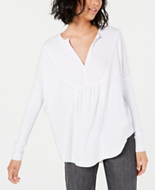Free People Leo Henley Thermal Top