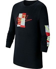 Nike Big Girls Graphic-Print Cotton Long Sleeve T-Shirt