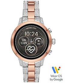 Access Women's Runway Two-Tone Stainless Steel & Crystal Bracelet Touchscreen Smart Watch 41mm, Powered by Wear OS by Google™