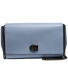Alexa Leather Chain Crossbody Clutch