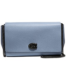 COACH Alexa Leather Chain Crossbody Clutch
