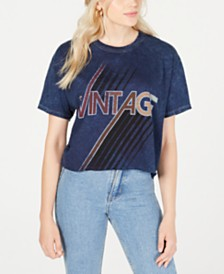 True Vintage Cotton Vintage-Graphic T-Shirt