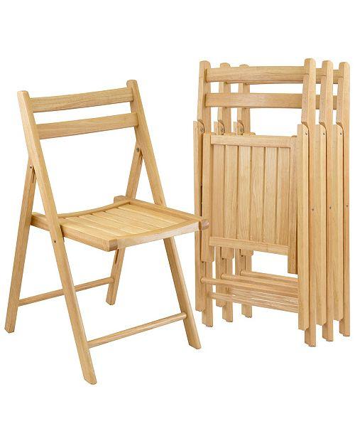 Winsome Robin 4-Piece Folding Chair Set
