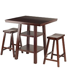Winsome Wood Orlando 3-Piece High Table Set
