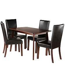 Winsome Wood Shaye 5-Piece Set Dining Table with Chairs
