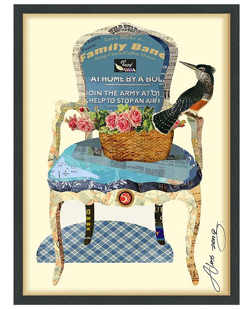 Empire Art Direct 'Antique Chair' Dimensional Collage Wall Art - 25'' x 33''