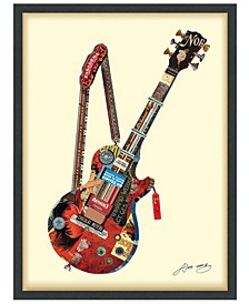"""'Electric Guitar' Dimensional Collage Wall Art - 25"""" x 33''"""