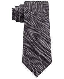 DKNY Men's Electronic Wavelengths Slim Abstract Silk Tie